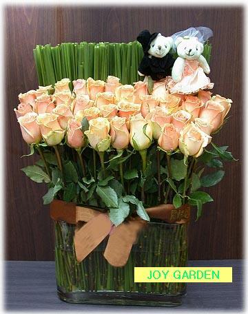 【图】欧式家居装饰花假花绢花卉仿真花套装实木栅栏整体花艺新房.